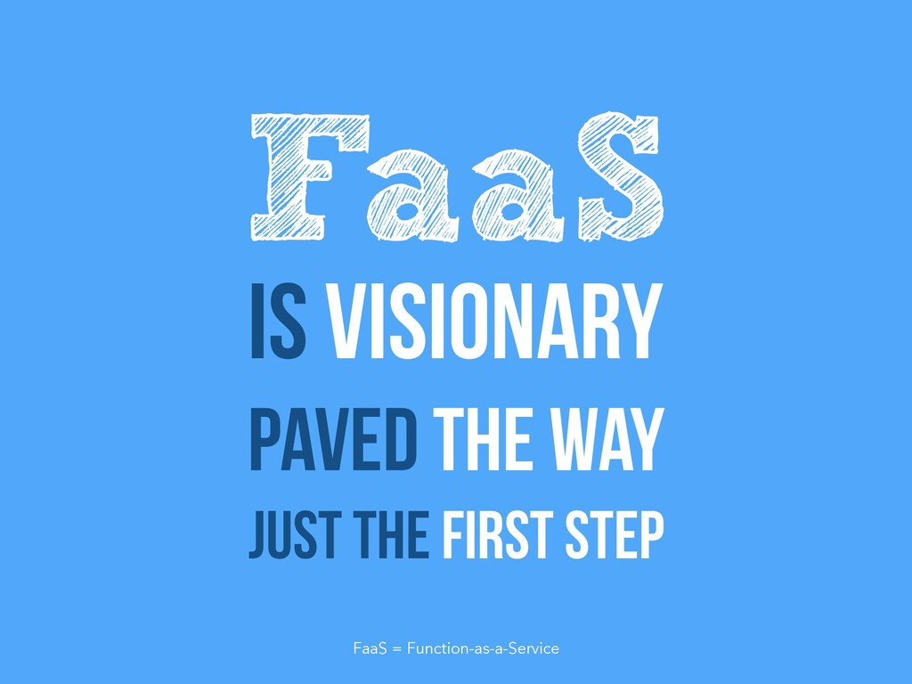 Is visionary Paved the way Just the first step ...