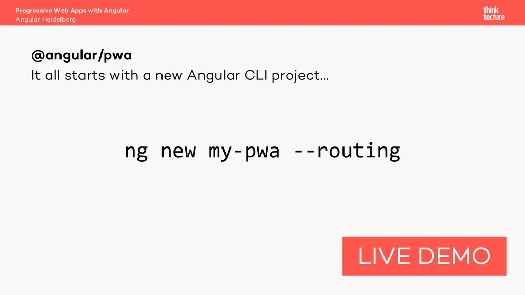 It all starts with a new Angular CLI project… n...