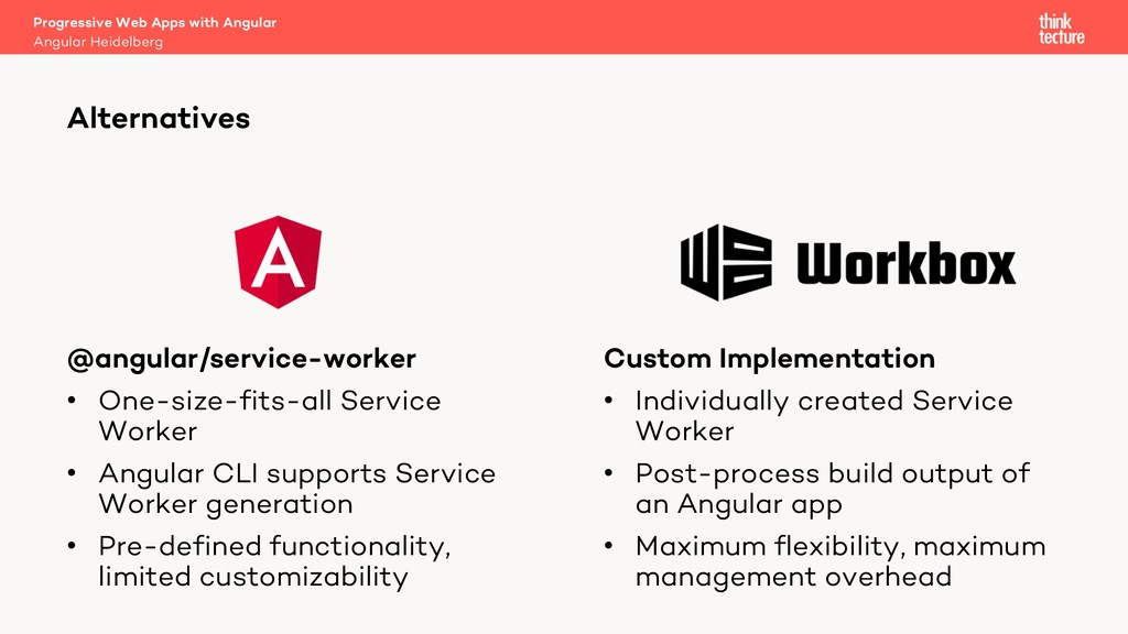 @angular/service-worker • One-size-fits-all Ser...