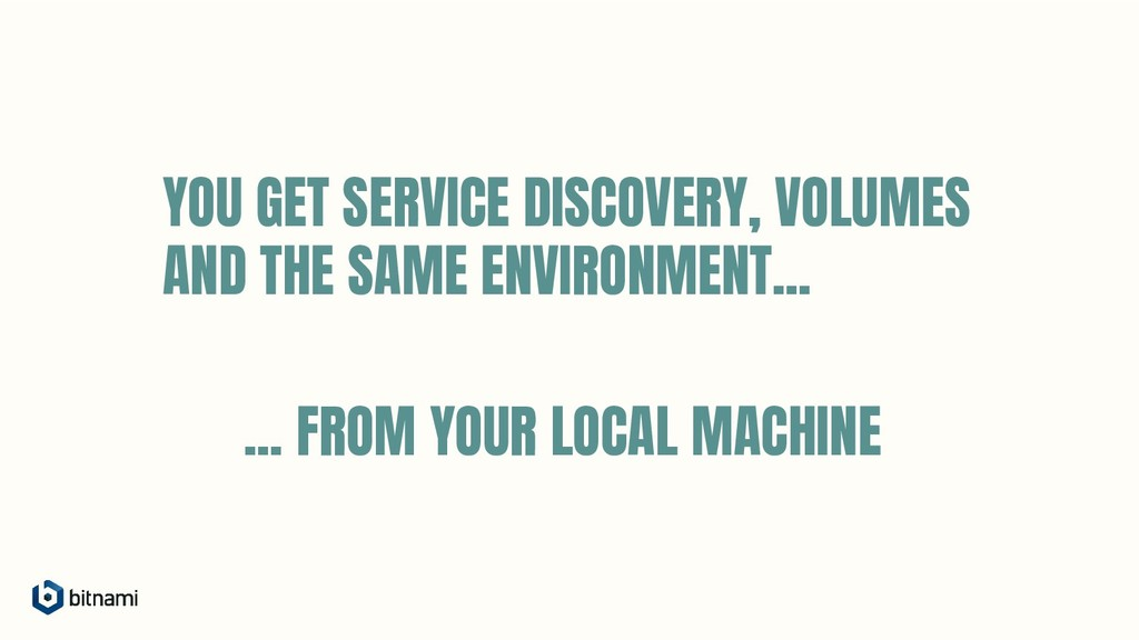 YOU GET SERVICE DISCOVERY, VOLUMES AND THE SAME...