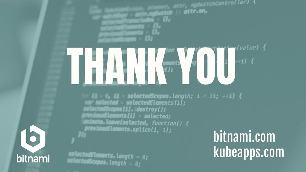 THANK YOU bitnami.com kubeapps.com