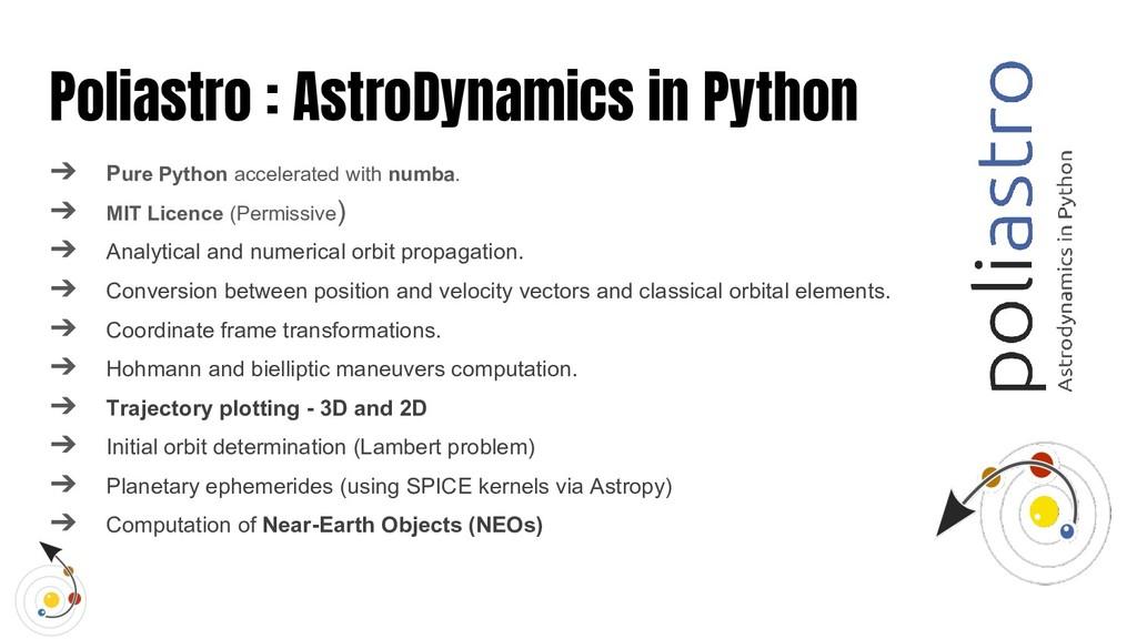 Poliastro : AstroDynamics in Python ➔ Pure Pyth...