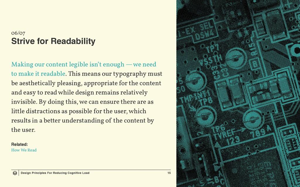 Design Principles For Reducing Cognitive Load 1...