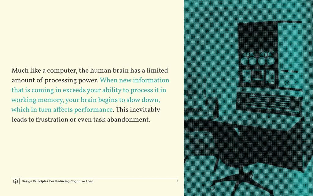 Design Principles For Reducing Cognitive Load 5...