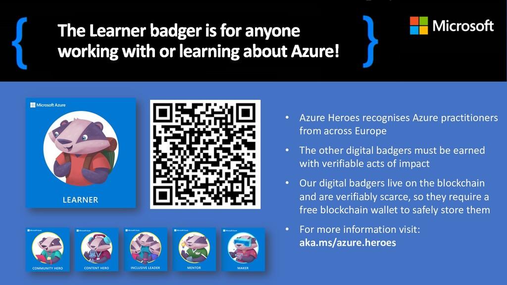 • Azure Heroes recognises Azure practitioners f...