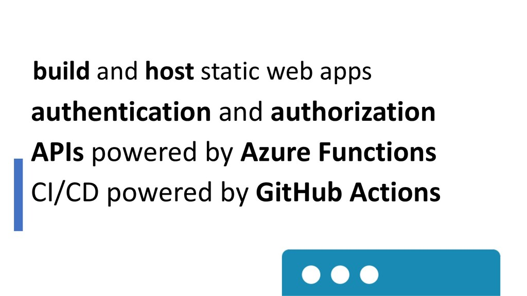 build and host static web apps authentication a...
