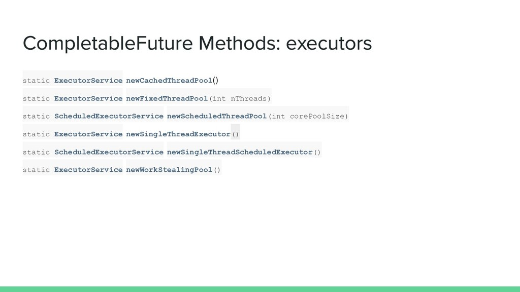 static ExecutorService newCachedThreadPool() st...