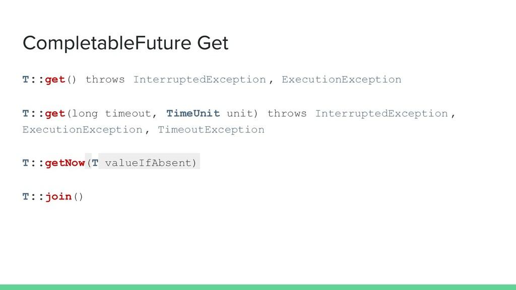 T::get () throws InterruptedException , Executi...