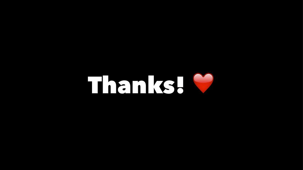 Thanks! ❤