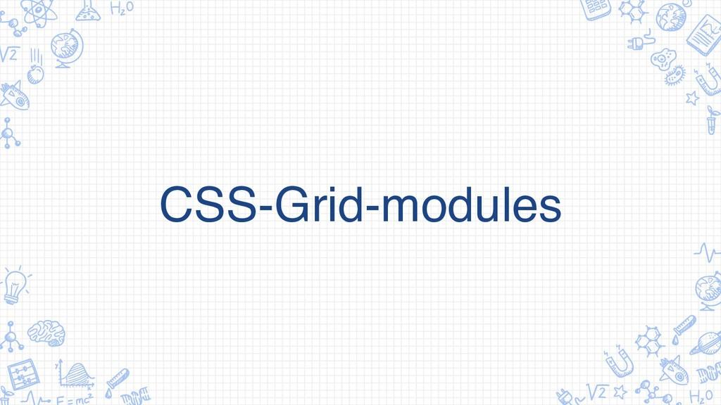CSS-Grid-modules