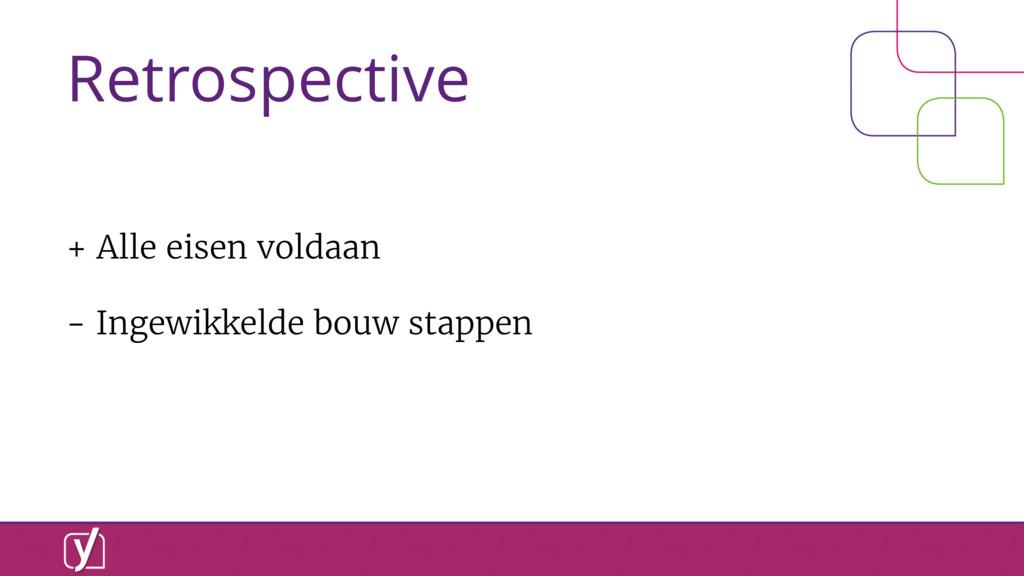 Retrospective + Alle eisen voldaan - Ingewikkel...