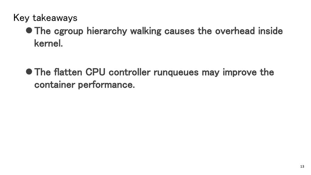 Key takeaways ⚫The cgroup hierarchy walking cau...