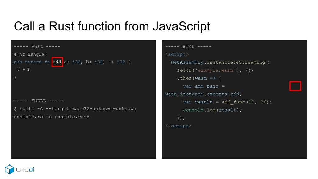 Call a Rust function from JavaScript ----- Rust...