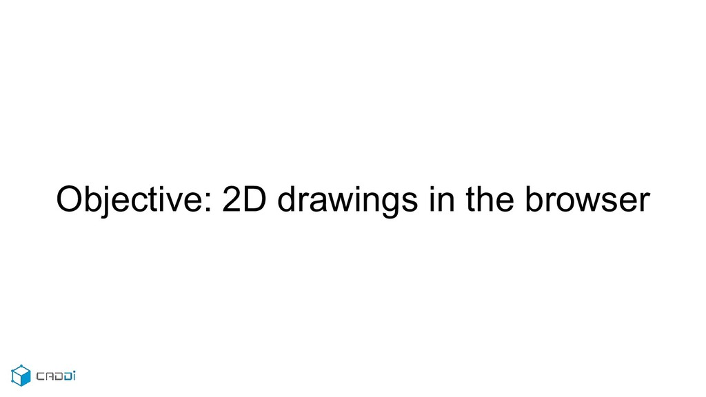Objective: 2D drawings in the browser