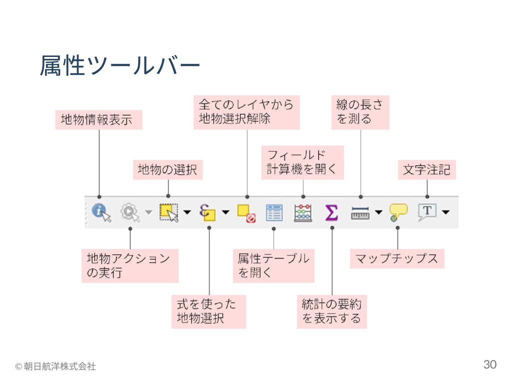 属性ツールバー © 朝日航洋株式会社 30
