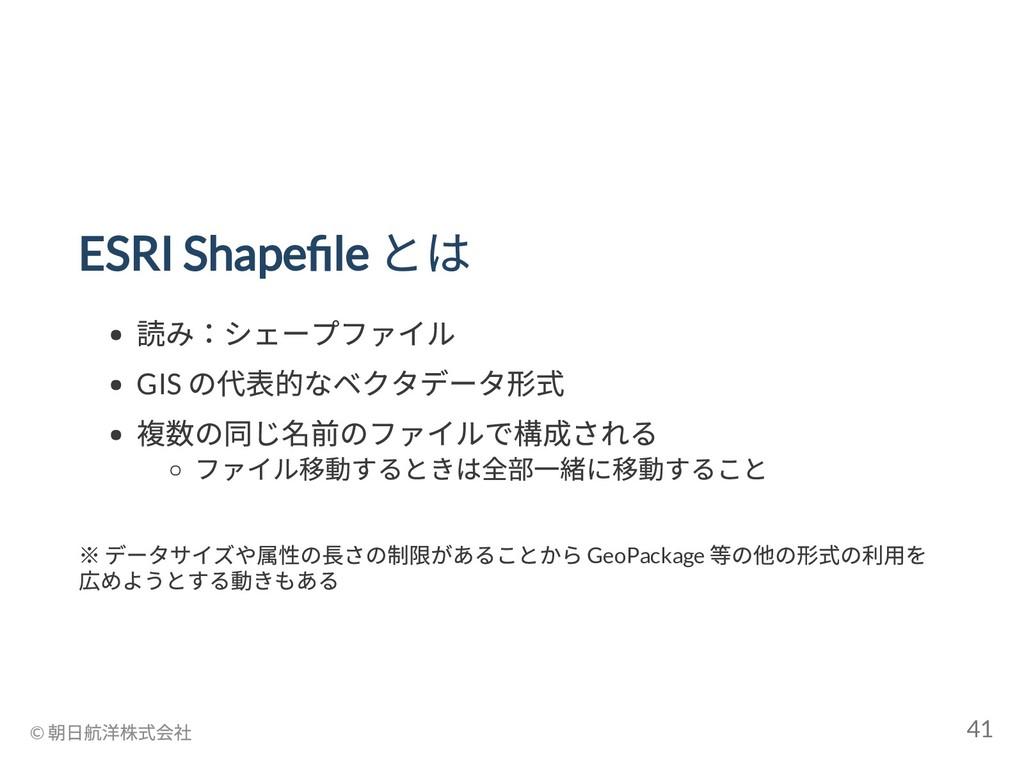 ESRI Shape le とは 読み:シェープファイル GIS の代表的なベクタデータ形式 ...