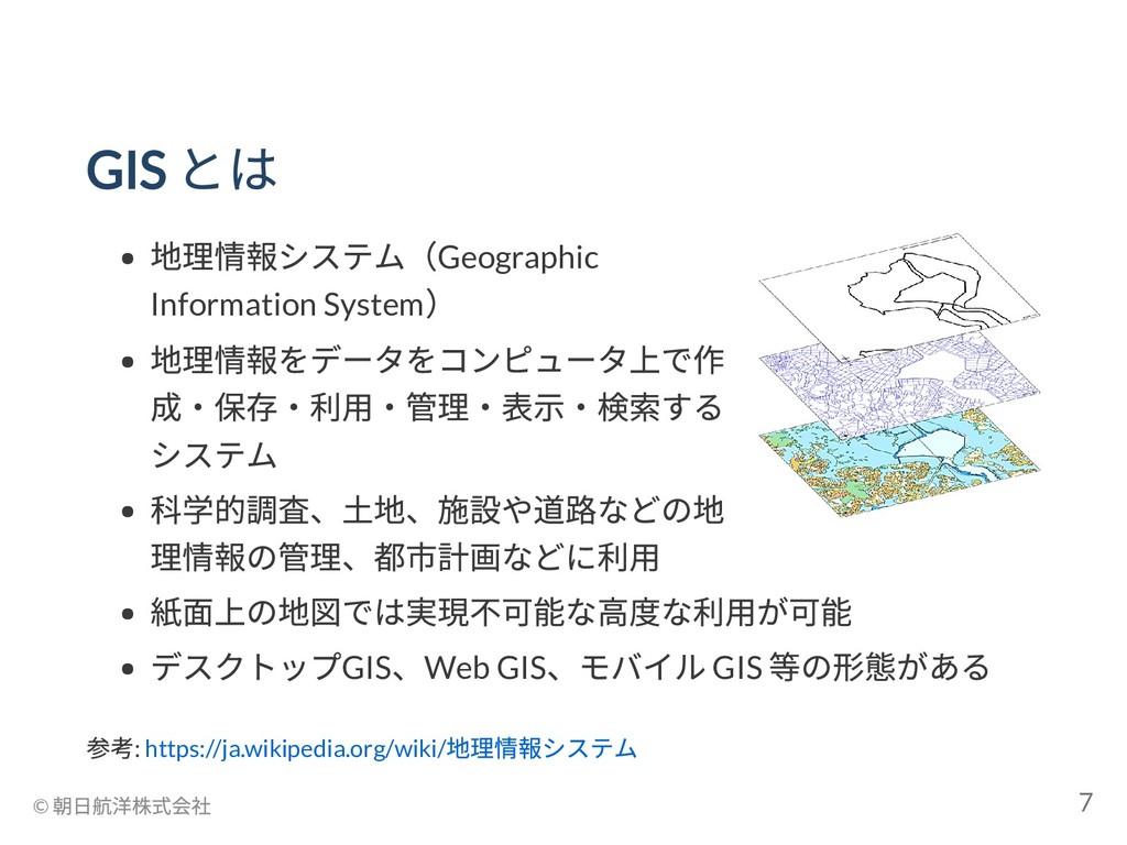GIS とは 地理情報システム(Geographic Information System )...