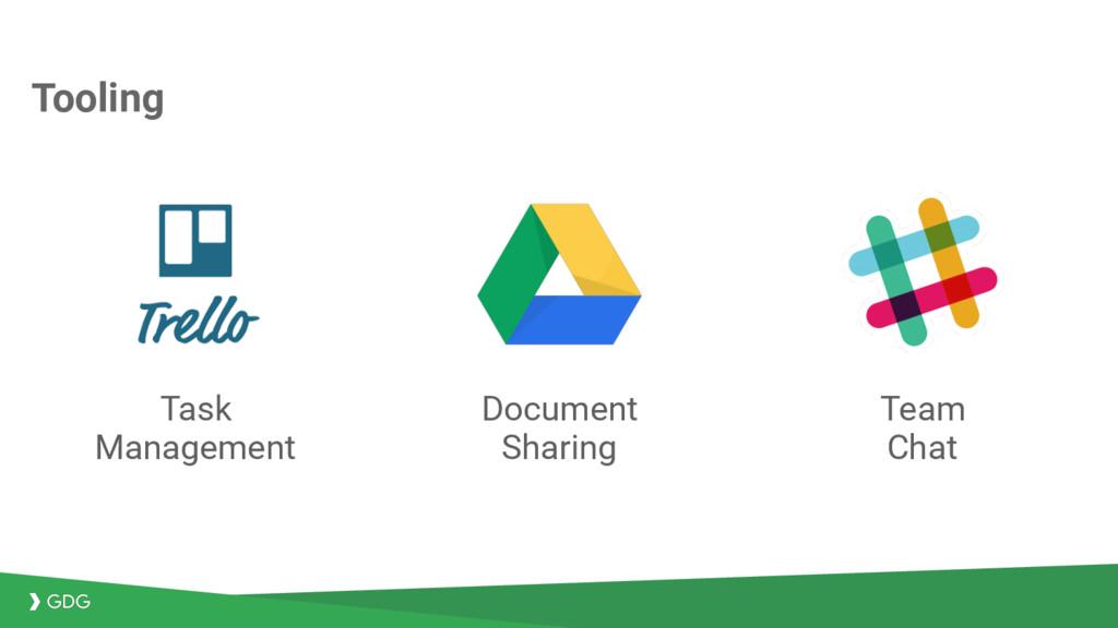 Tooling Task Management Document Sharing Team C...