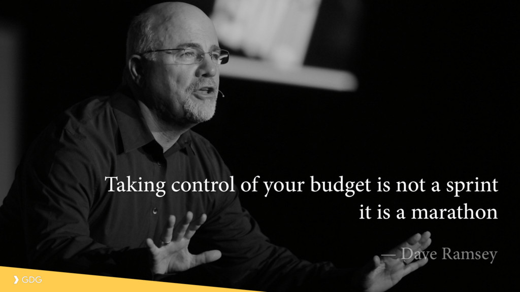 Taking control of your budget is not a sprint i...