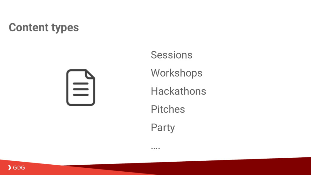 Sessions Workshops Hackathons Pitches Party …. ...