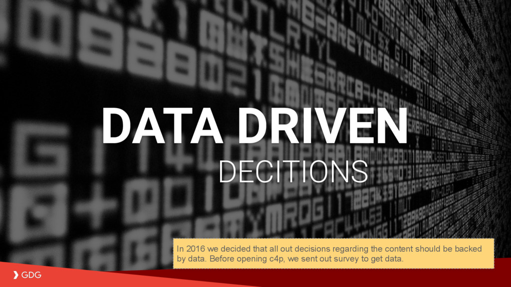 Data driven content selection DECITIONS DATA DR...