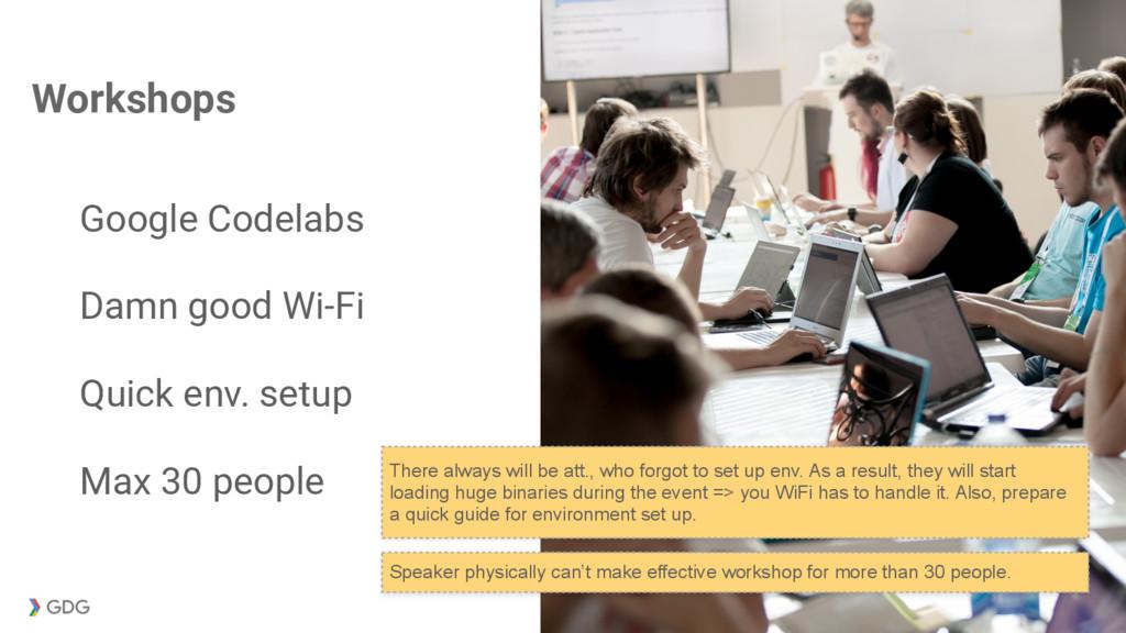 Workshops Google Codelabs Damn good Wi-Fi Quick...