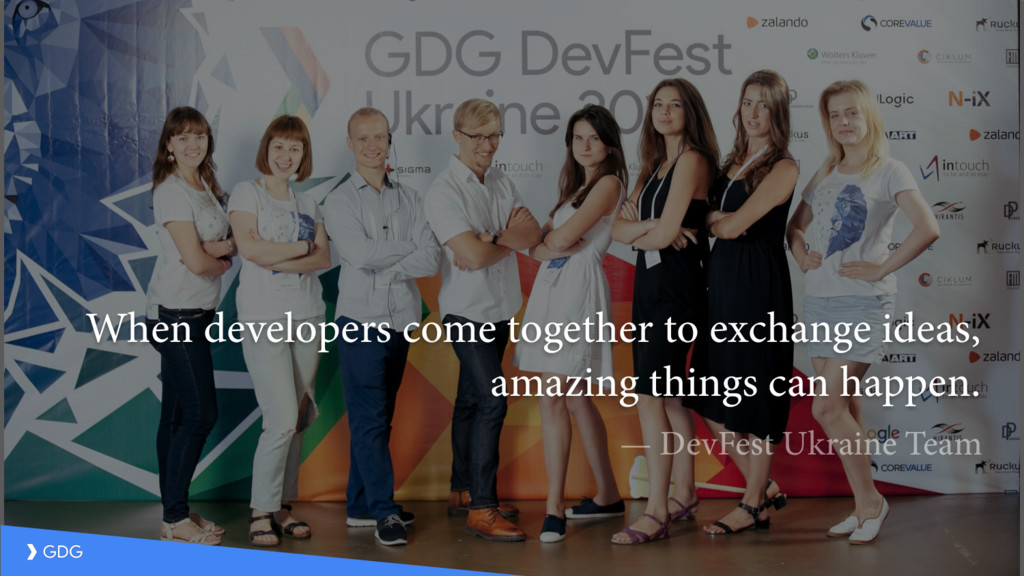 When developers come together to exchange ideas...