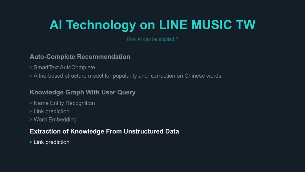 AI Technology on LINE MUSIC TW How AI can be ap...