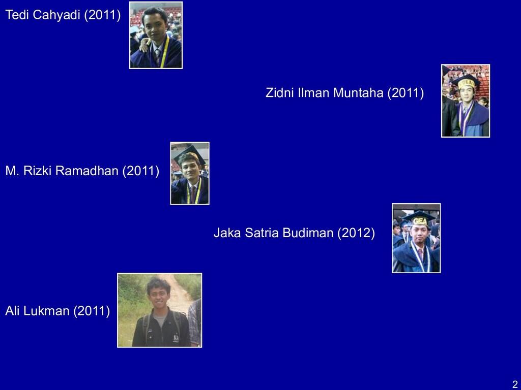 2 Tedi Cahyadi (2011) Zidni Ilman Muntaha (2011...