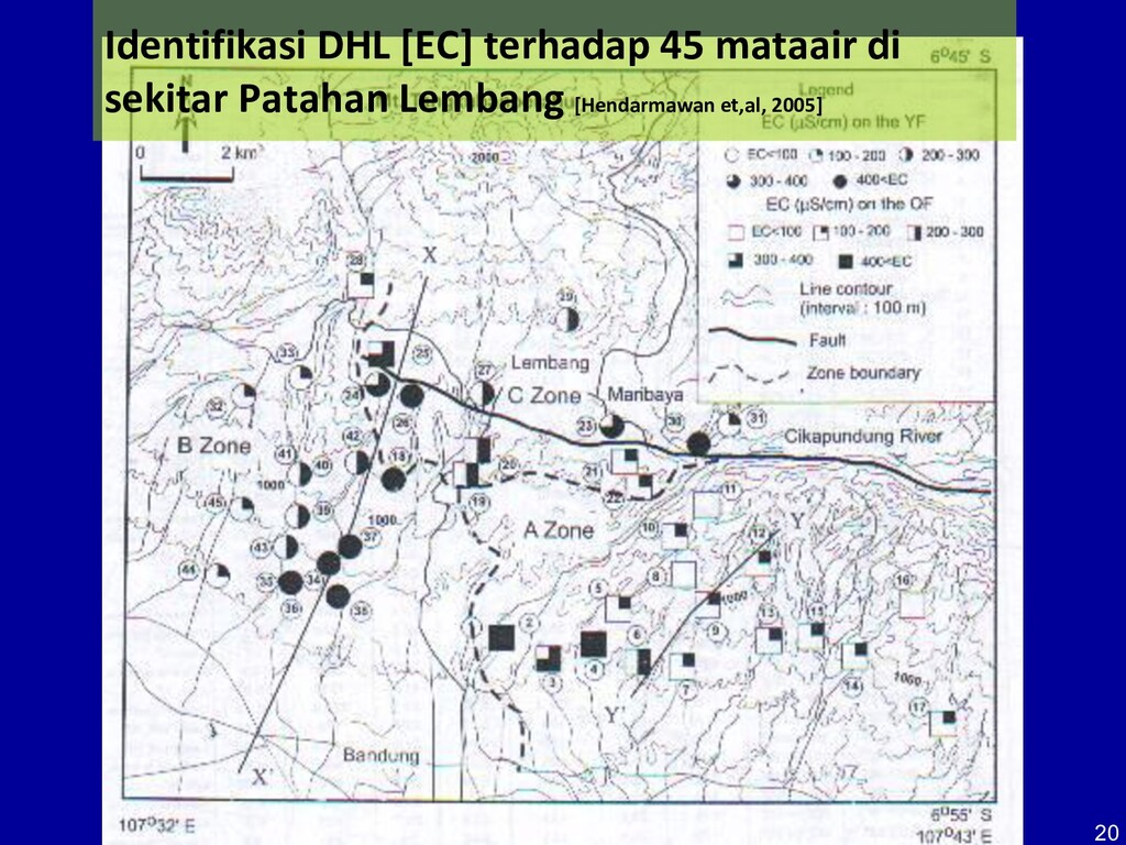 20 Identifikasi DHL [EC] terhadap 45 mataair di...