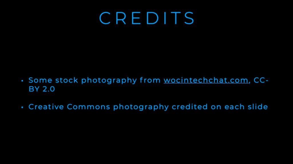 C R E D I T S • Some stock photography f rom wo...