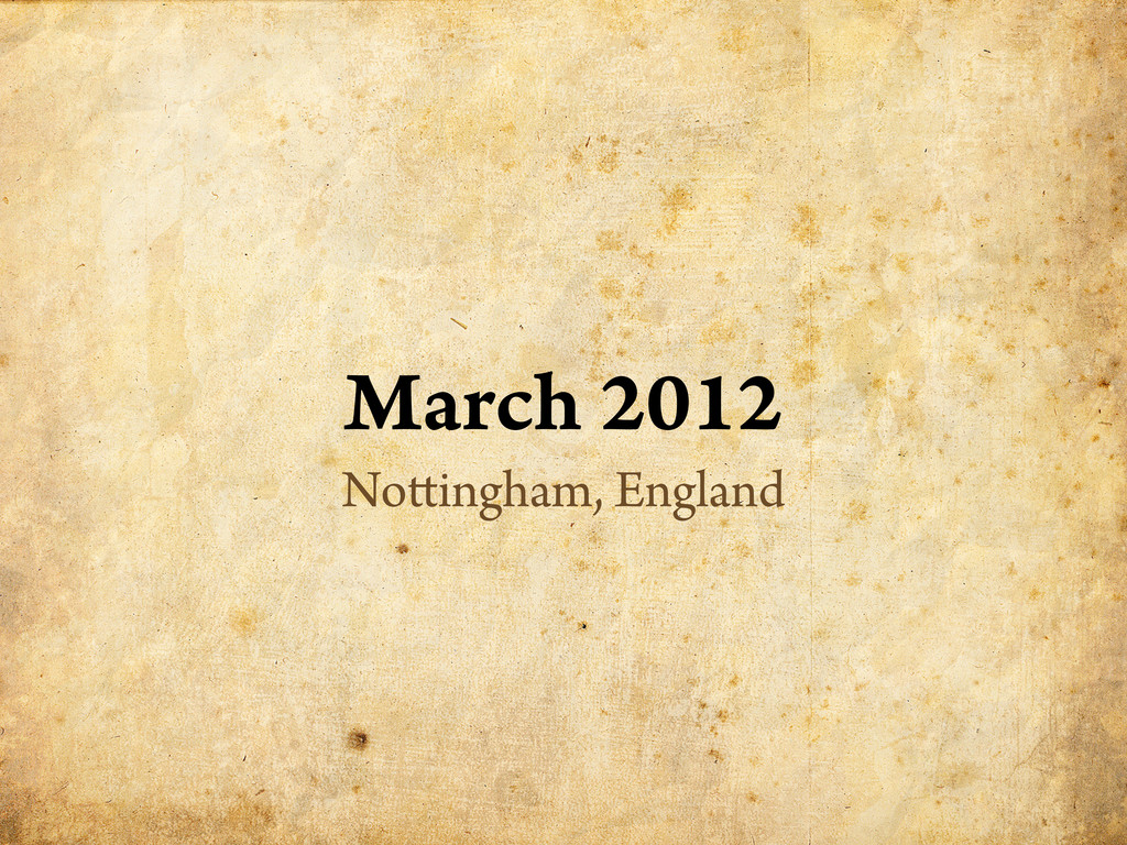 March 2012 No ingham, England