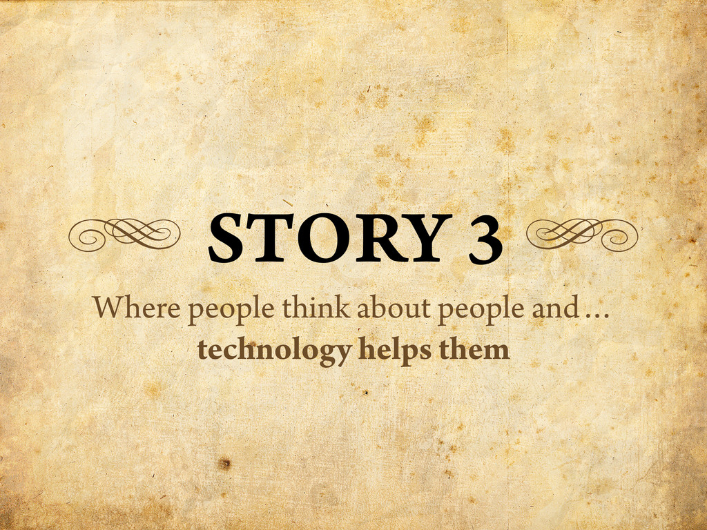 g STORY 3 h Where people think about people and...