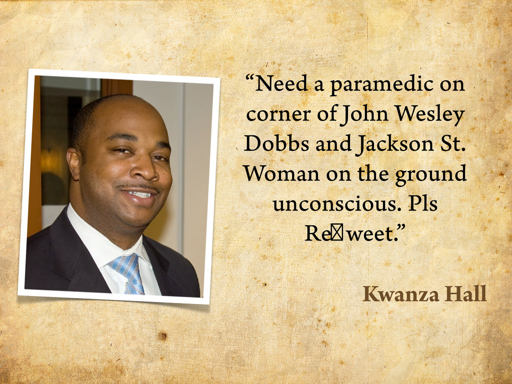 """Need a paramedic on corner of John Wesley Dobb..."