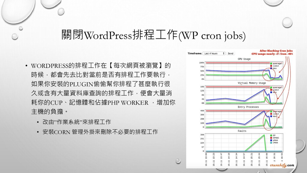 關閉WordPress排程工作(WP cron jobs) • WORDPRESS的排程工作在...