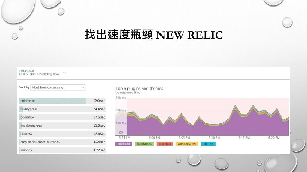 找出速度瓶頸 NEW RELIC