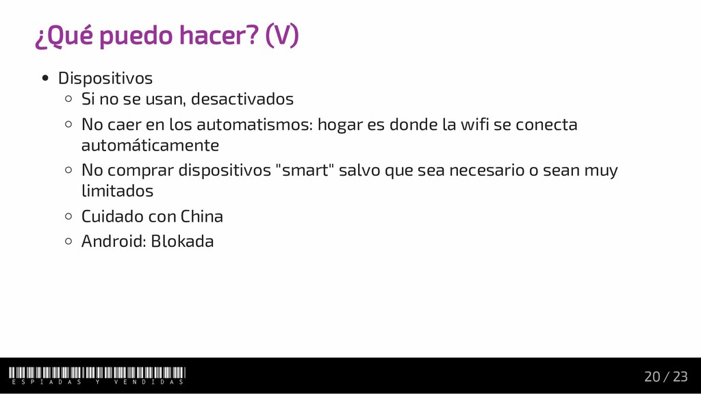¿Qué puedo hacer? (V) Dispositivos Si no se usa...