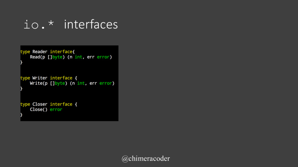 io.* interfaces @chimeracoder