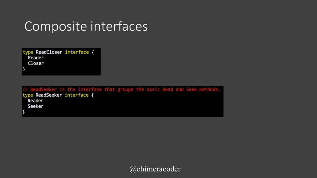 Composite interfaces @chimeracoder