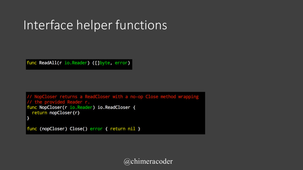 Interface helper functions @chimeracoder