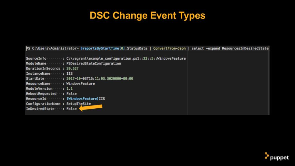 DSC Change Event Types
