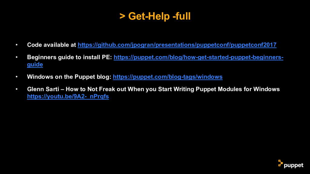 > Get-Help -full • Code available at https://gi...