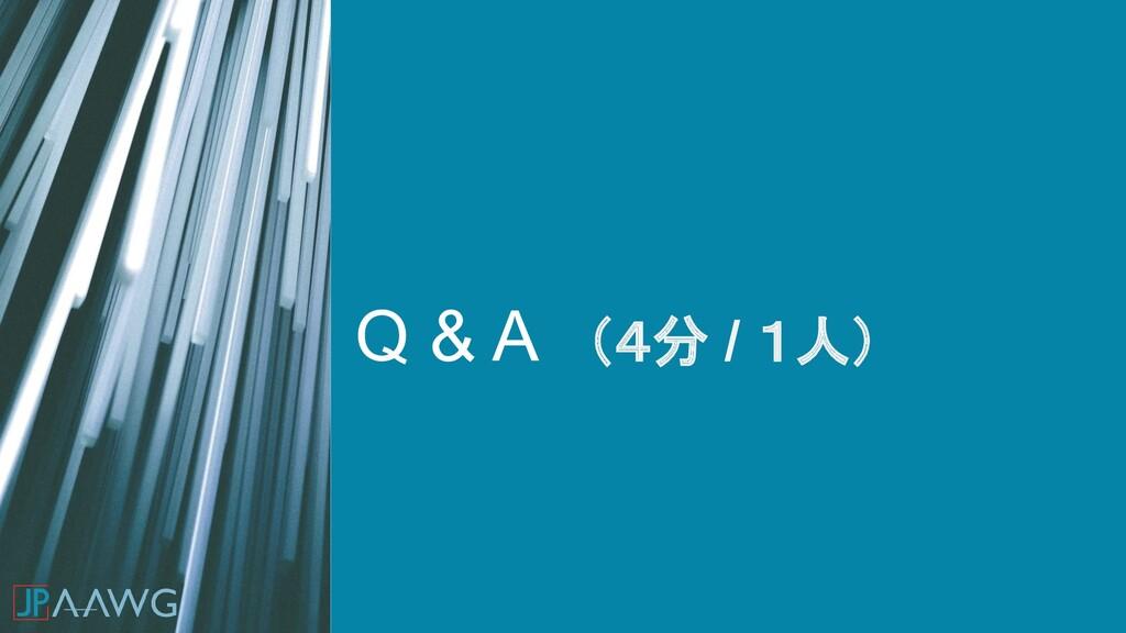 Q & A (4分 / 1人)
