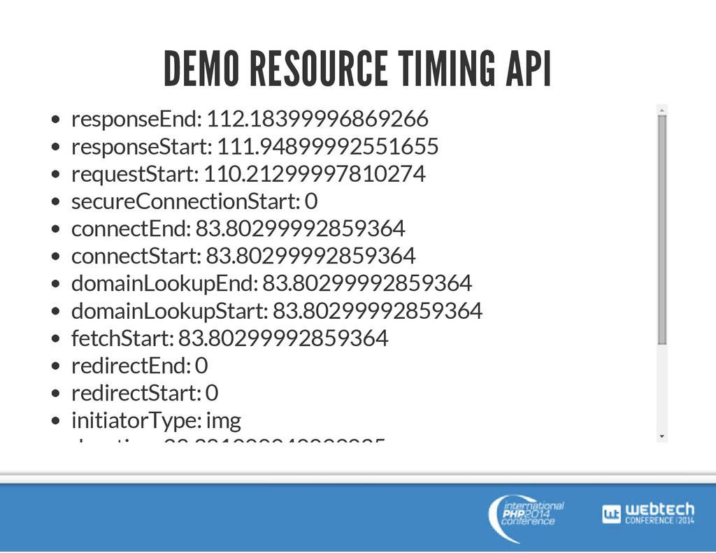 DEMO RESOURCE TIMING API responseEnd: 112.18399...