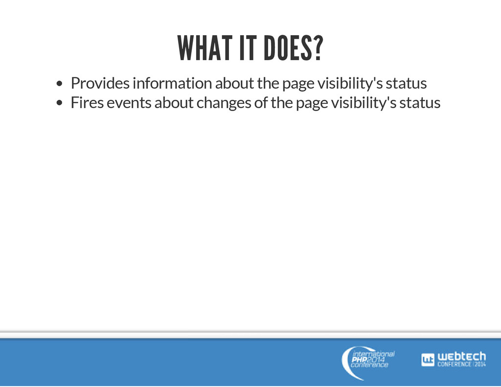 WHAT IT DOES? Provides information about the pa...