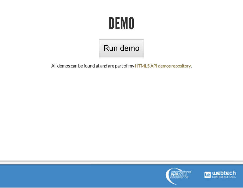 DEMO Run demo All demos can be found at and are...