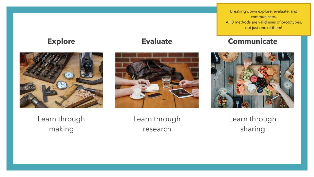 Learn through  making Learn through  research...