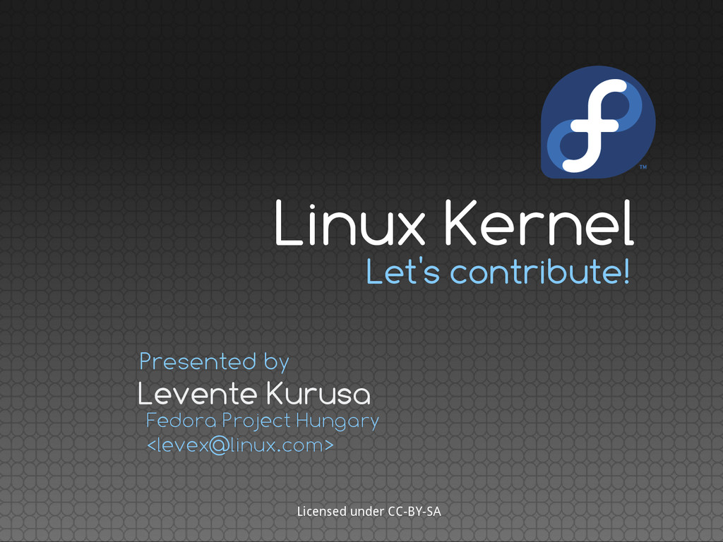 Let's contribute! Levente Kurusa Presented by F...