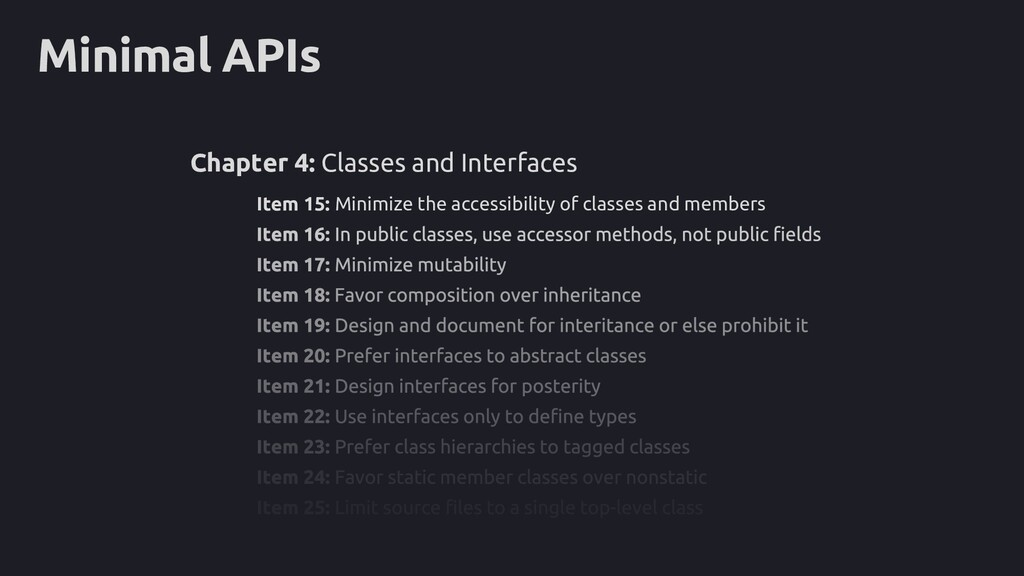 Minimal APIs Item 15: Minimize the accessibilit...
