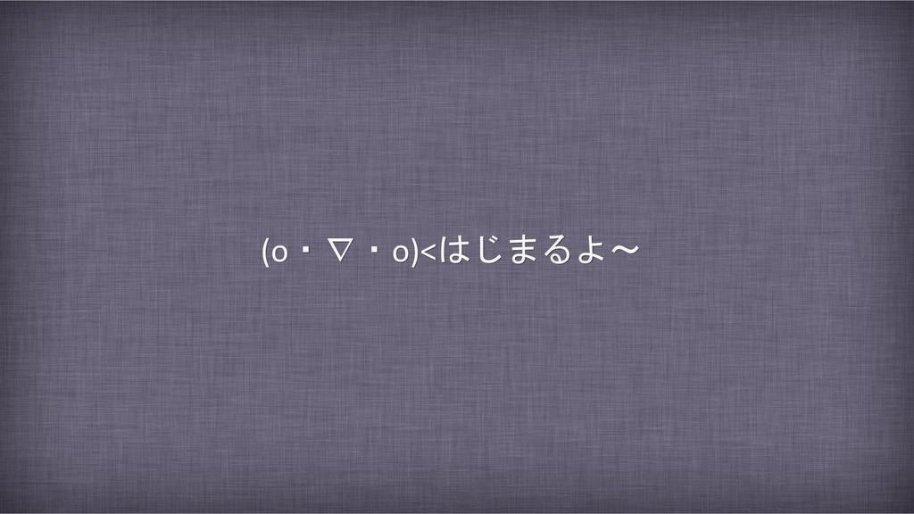 (o・∇・o)<はじまるよ~